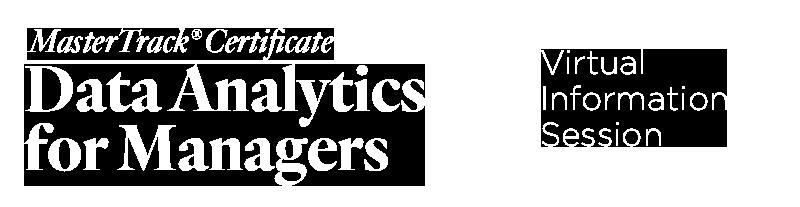 Data Analytics Virtual Information Session